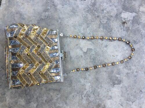 Barerra abendtasche zag Zig Aus Larisa kristall Goldsilber Aw7xzdBzq