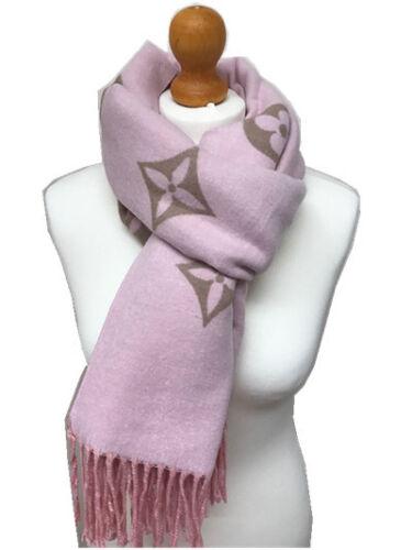 Donna Caldo Morbido CLOVER modello double face con frange 100/% cashmere sciarpa scialle Wrap