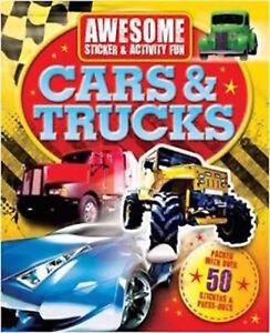 Genial-Autocollant-et-Activite-Livre-Voitures-Camions-Tout-Neuf-Envoi