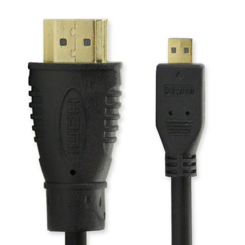 Cable HDMI para Panasonic Lumix dc-tz96eg Lumix dc-fz83 hc-v777 Micro HDMI Type D