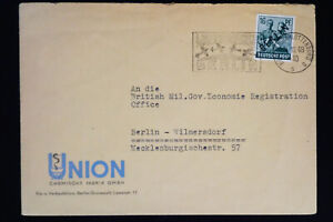 L-039-Allemagne-estampille-Berlin-CARTE-POSTALE-Tres-Fine-Housse-pour-British-Office