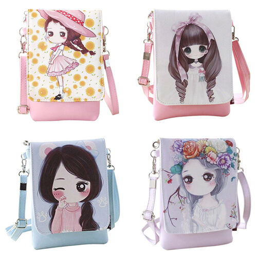 Kids Students Cartoon Girls Teenagers Mini Shoulder Bag Cross Body Messager Bag