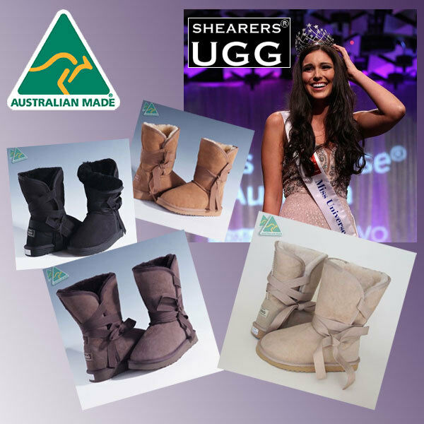 Bottes courtes en peau de mouton UGG véritables Australia SHEARERS Australia - Wick Wrap