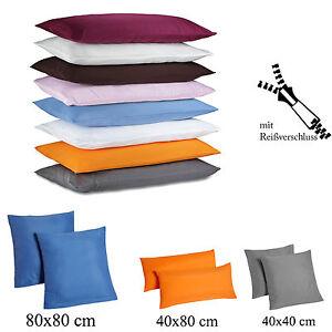 kissenbezug 2er set mikrofaser kissenh lle microfaser dekokissen h lle bezug ebay. Black Bedroom Furniture Sets. Home Design Ideas
