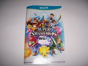 instructions for super smash bros instruction book booklet manual rh ebay com Mario Kart Wii Manual Wii Instruction Manual