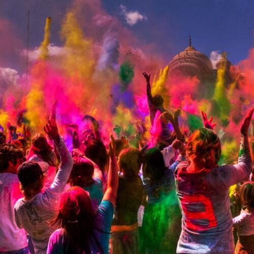 neon party colour ru uv reactive holi cornflour UV Holi Powder 2kg paint