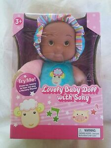 5cc80b873 Lovely Baby Doll with Song Dark to Medium Skin Tone New 26253612975 ...