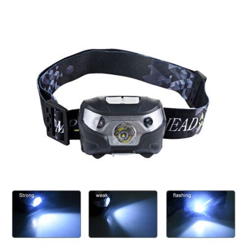 USB Rechargeable 12000LM LED Motion Sensor Headlamp Headlight Torch Flashligh