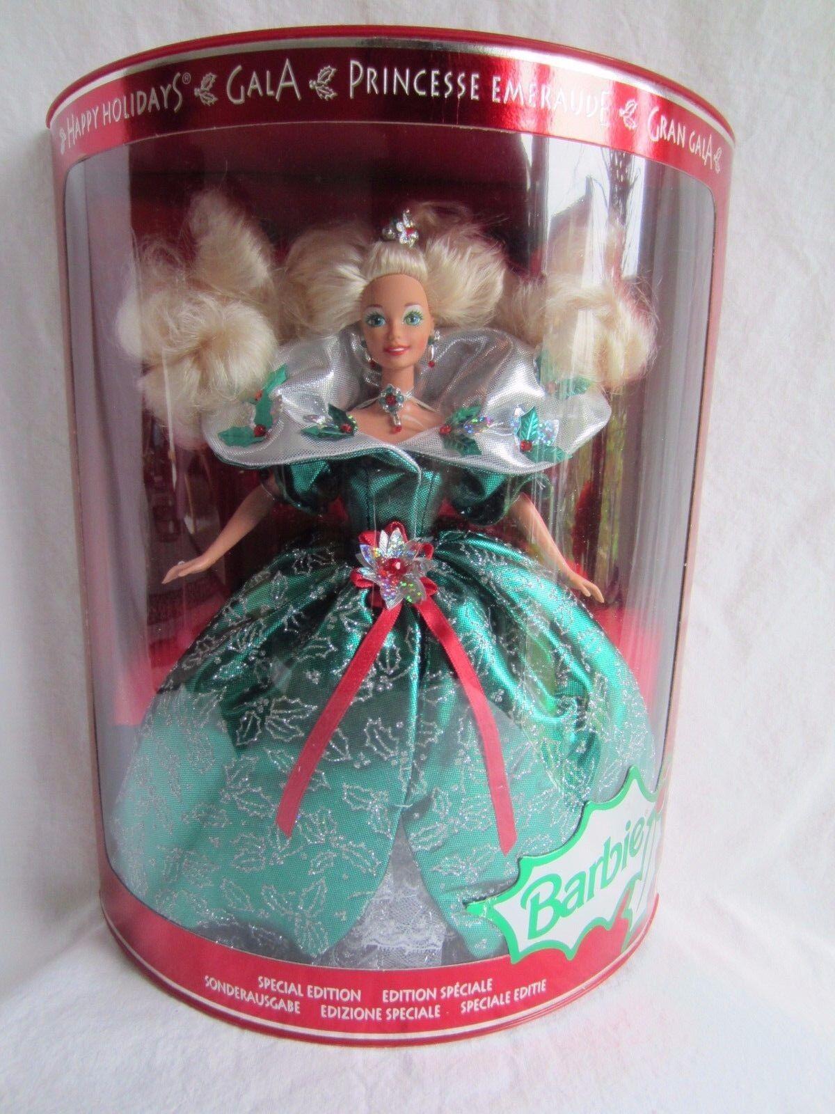 Happy Holidays Gala Special Edition Collector Barbie 1995 Emeraude