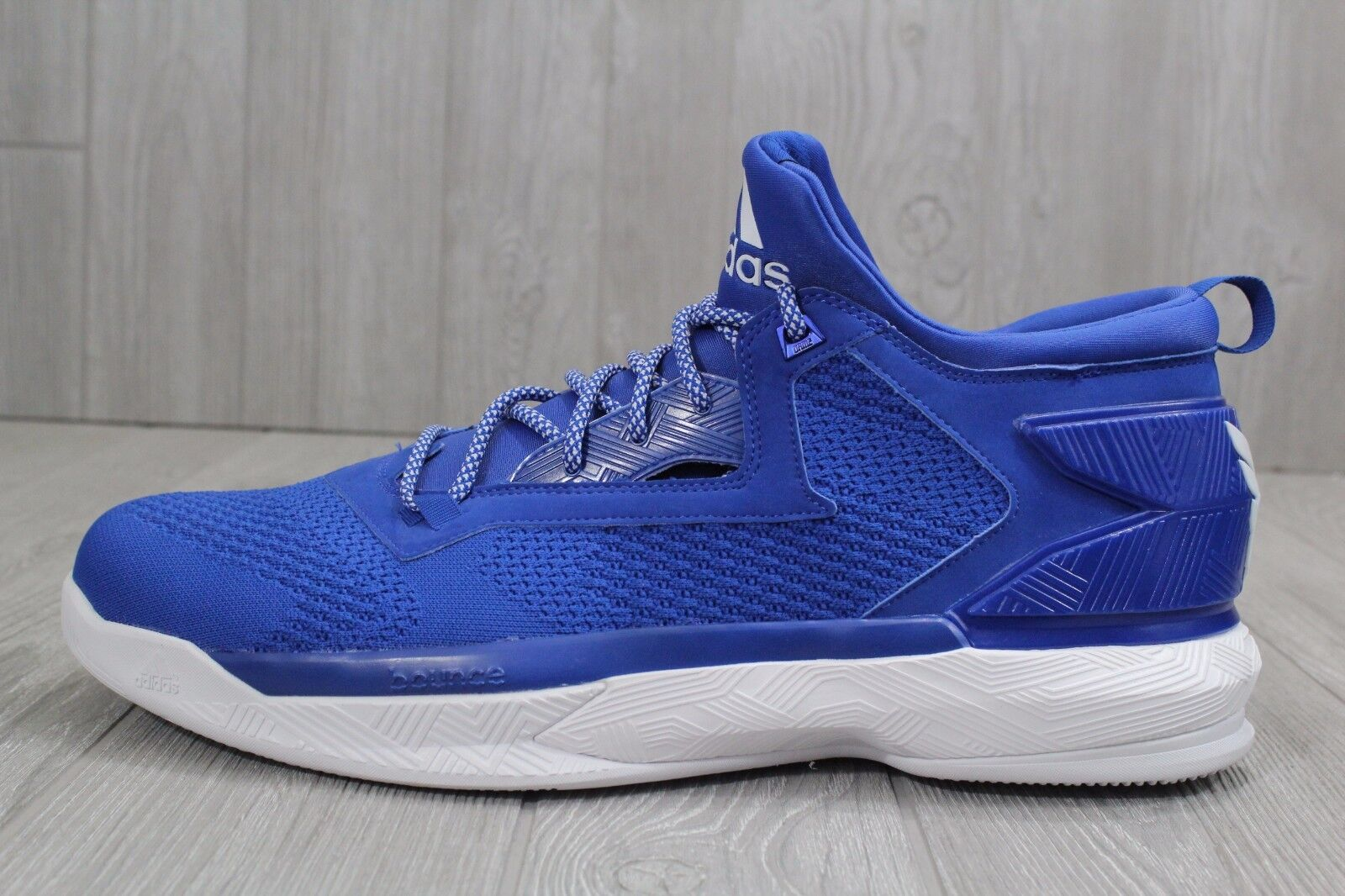 24 New Adidas Men's SM D LILLARD 2.0 NBA Basketball Shoes Blue/White B38891 16