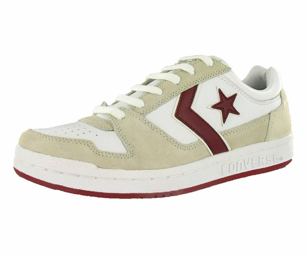New Mens Converse Point Man Fashion Sneakers Style 1w987 White Red W112 pr