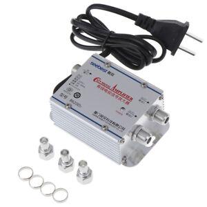 Amplificatore-Segnale-AC-Standard-20dB-TV-Via-Cavo-UHF-VHF-FM-Splitter-Antenna