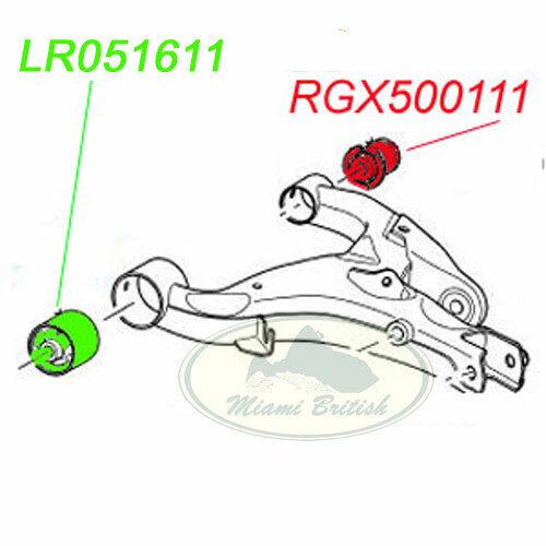 LAND ROVER REAR SUSPENSION LOWER ARM FRONT BUSH x2 LR051611 LR3 LR4 RRS LEMF