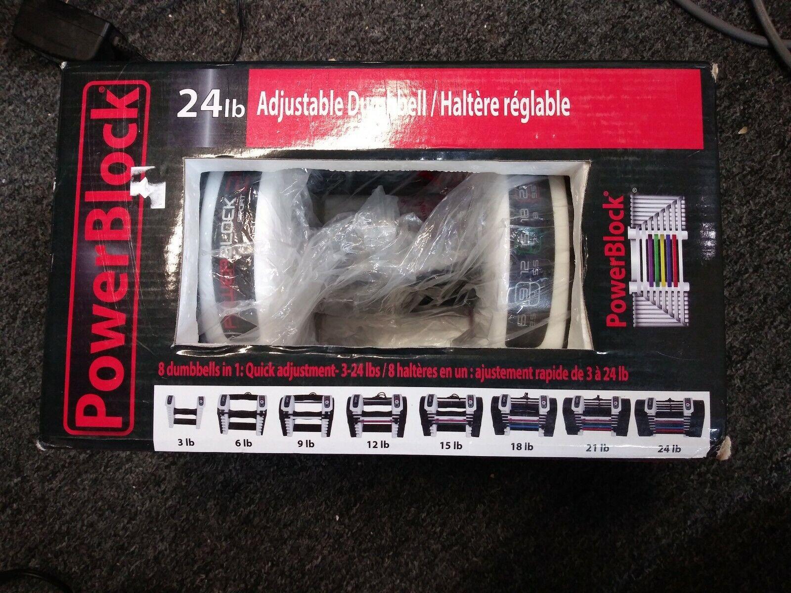 Powerblock 24lb Sport 24 Adjustable Dumbbell Set Of 2 For Sale Online Ebay