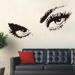 Zwei-Augen-Wandsticker-Frau-Maedchen-Wandaufkleber-Blick-Aufkleber-Folie