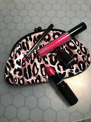 Mac Primped Out Lip Look Bag Luxurious Pink Lipstick Glamour Daze Authentic New 773602250691 Ebay