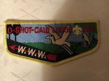 MINT OA Flap Lodge 265 O Shot Yellow Border