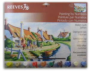 Details Zu Malen Nach Zahlen Dorf 30 X 40 Cm 10 Acrylfarben