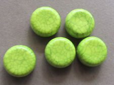 10Lime Green   With Turquoise Design 22mm  Acrylic Beads(G45C6)