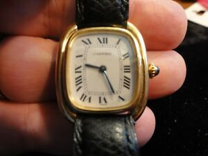 570c5a312333 CARTIER VENDOME~18K Yellow Gold~Manuel Wind~Lady s Watch~Circa 1980s ...