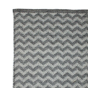 Hand Woven Rugs Polyester and Cotton Blend- Chevron Design