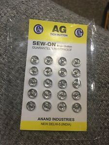 Obligeant Sew-on X20 8 Mm Metal Snap Fasteners Poppers-afficher Le Titre D'origine