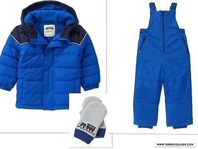 NWT Gymboree ARCTIC EXPLORER Boys Size 6-12 Months Blue Colorblock Puffer Jacket