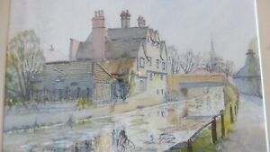 Landscape-Original-Watercolour-painting-of-a-town-on-the-bank-of-a-river