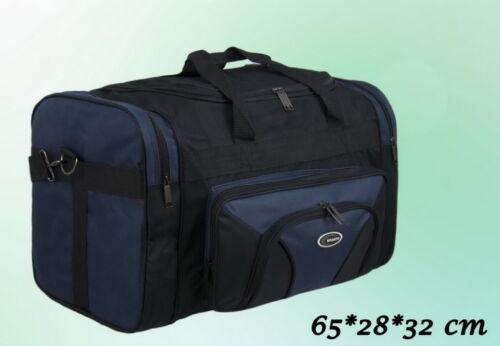 28 Tasche Reisetasche Sporttasche Schwarz Blau 65 32 cm