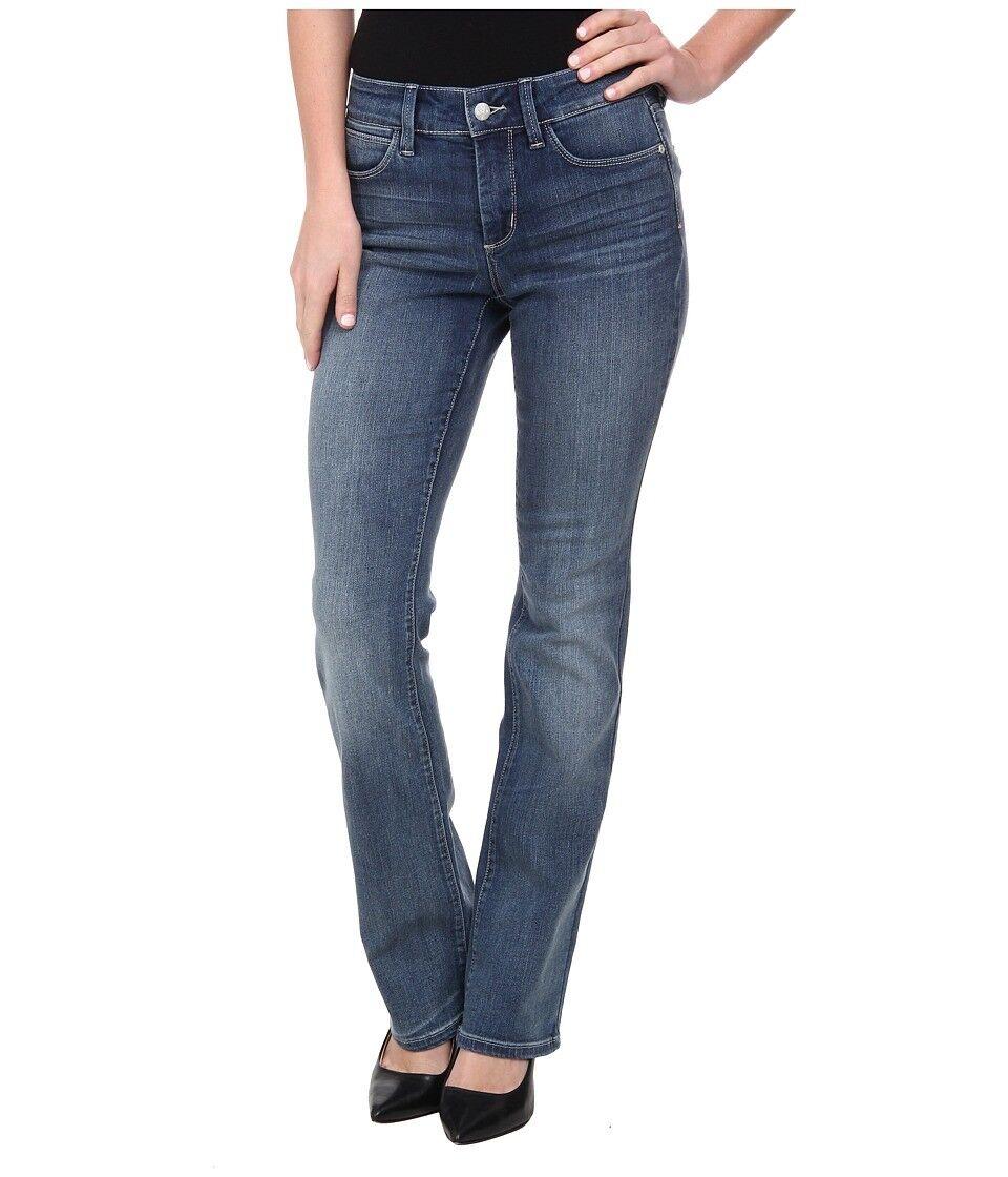 New NYDJ Not Your Daughter Jeans BILLIE Mini Bootcut dark bluee Oak Hill 8 12 14