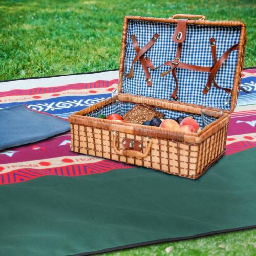 Reisedecke Picknickdecke XXL 200 x 200cm Campingdecke Stranddecke Wasserdicht