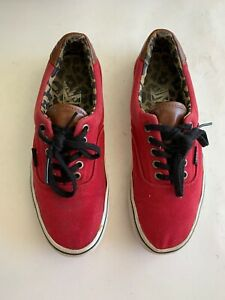 Vans Mens Size 8 Maroon Red Authentic