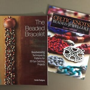 Lot-of-2-jewelry-craft-books-Celtic-Knots-Beaded-Jewelry-amp-The-Beaded-Bracelet