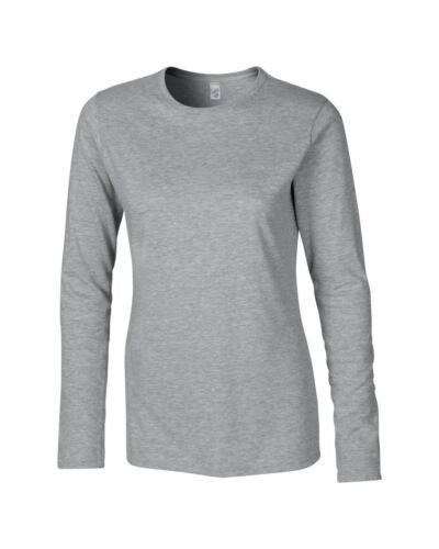 Gildan Softstyle Damen/' Langärmlig T-Shirt größen s-xxl Damen oberteile