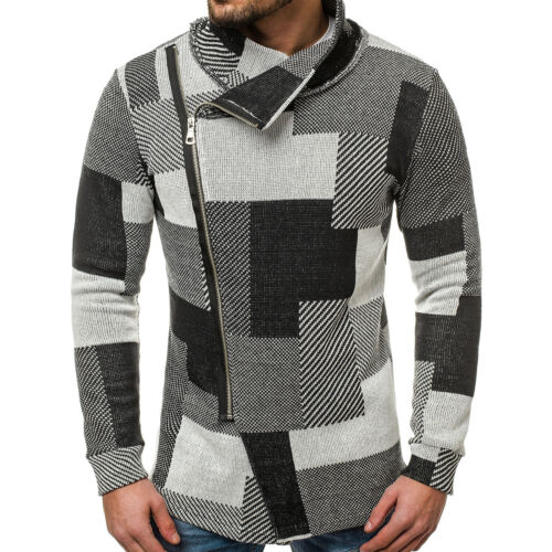 Sweatshirt Pullover Asymetrisch Sweatjacke Langarmshirt Herren OZONEE O//3502