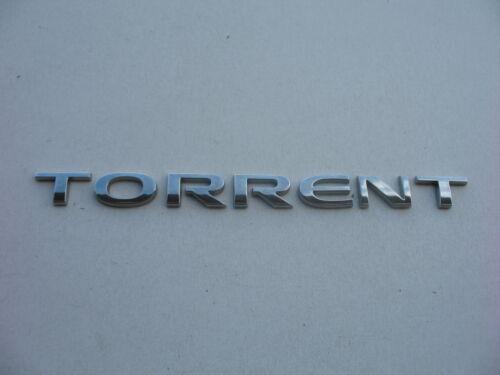06 07 08 09 PONTIAC TORRENT REAR LID CHROME EMBLEM LOGO BADGE SIGN SYMBOL OEM