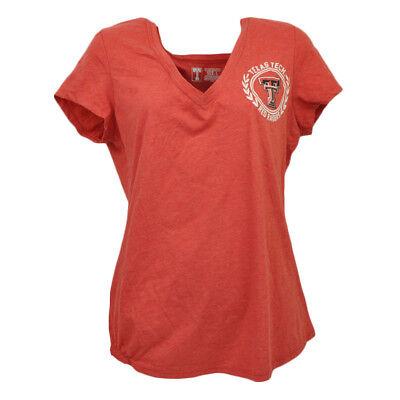 Weitere Ballsportarten ZuverläSsig Ncaa Texas Tech Rot Raiders T-shirt V-ausschnitt Damen Kurzärmelig Sport Damen Ein GefüHl Der Leichtigkeit Und Energie Erzeugen