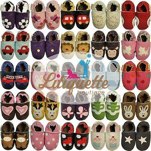 Litiquette-filles-chaussons-bebe-enfant-chaussures-cuir-semelle-souple-garcons