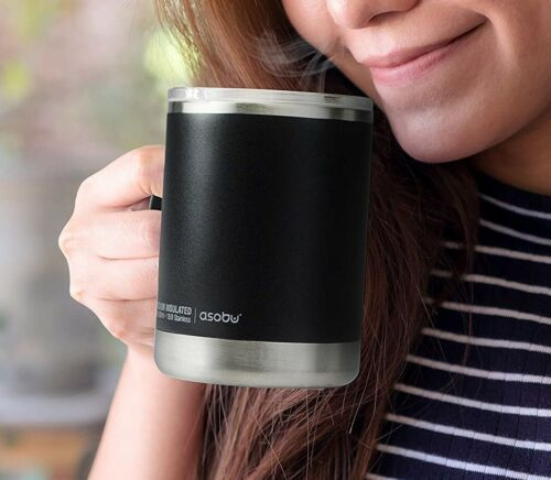 Asobu Ultimate Kaffee Becher 360 ml Edelstahl Vakuum doppelwandig mit Deckel