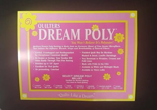 Quilters Dream Midnight Select Poly Mid Loft Crib Size Black Quilt Batting