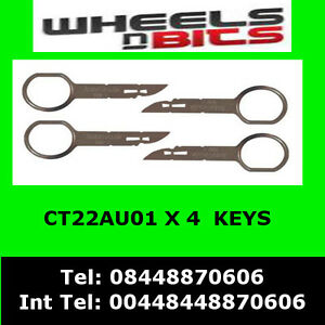 CT22AU01-VOLKSWAGEN-VW-SHARAN-2005-gt-RADIO-REMOVAL-RELEASE-EXTRACTION-KEYS-X-4
