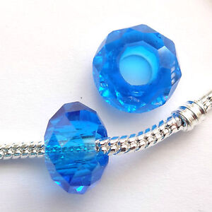 4-Crystal-14x9mm-Large-hole-Facet-beads-Spphire-D071
