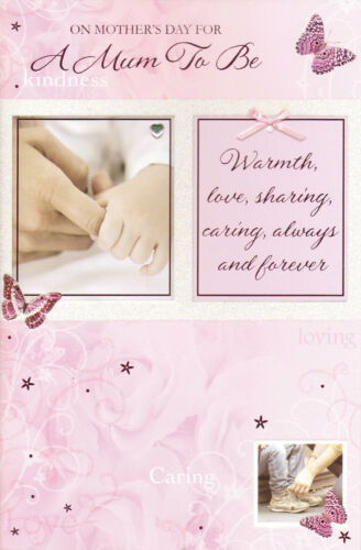 attachment mother/'s day card on mothers day for A MUM TO BE photographic
