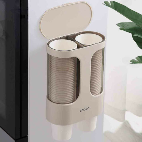 Water Dispenser Cup Holder Disposable Cup Holder Automatic Cup Storage Rack UK