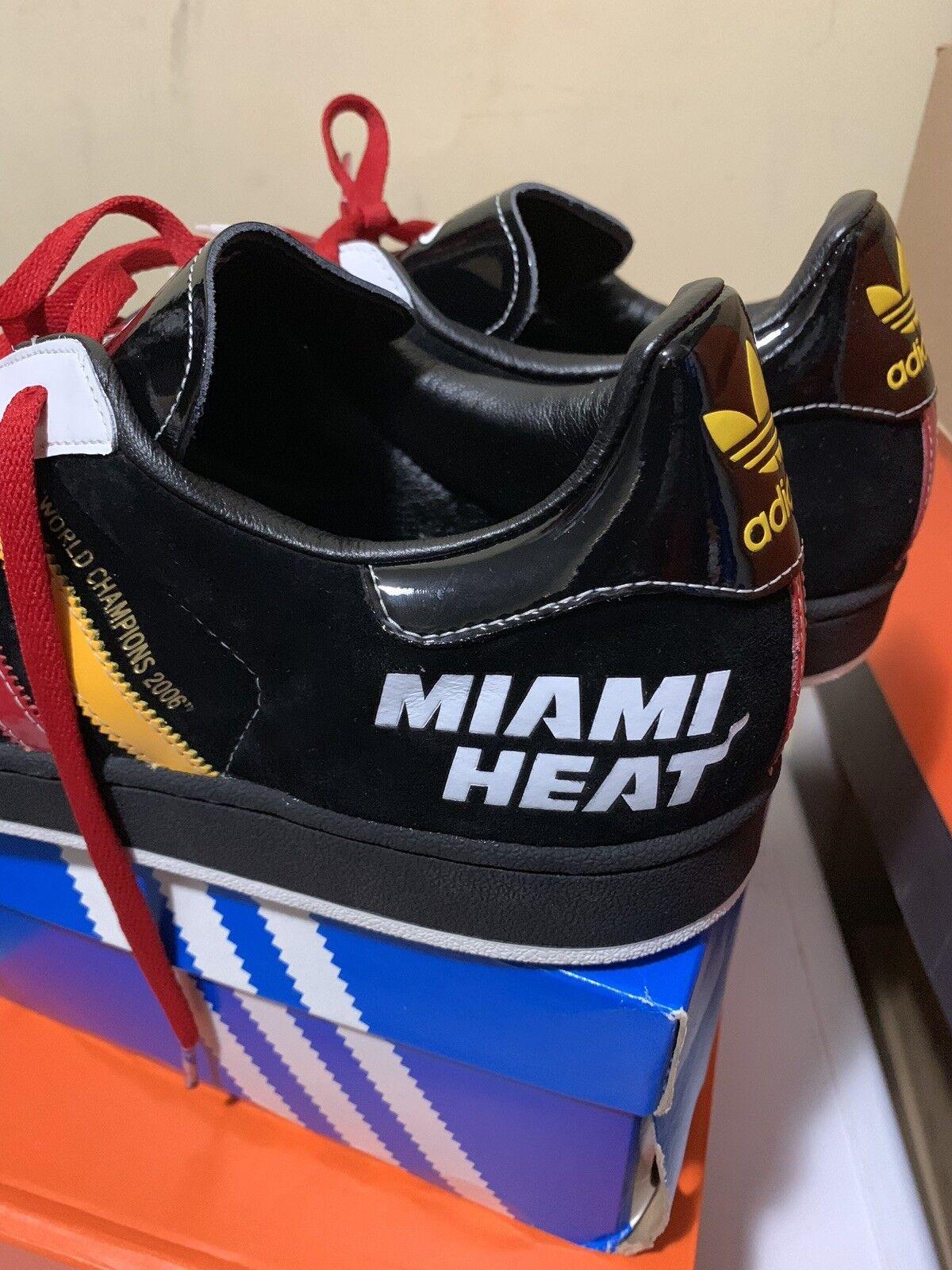 Adidas Superstar  017136 1 017136  Miami Heat 2006 Championship Edition Mens Size 12 58b791