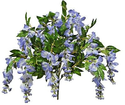 "White Wisteria Artificial Silk Flower 24/"" Bouquet Home Wedding Table Decor Craft"