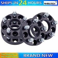 4 Pcs 5x4.5 Black fit 1964-2015 Ford Mustang Hub Centirc 1 inch Wheel Spacers