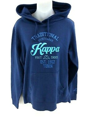 Kappa Womens Hoodie Jumper Xl Blue Cotton & Polyester