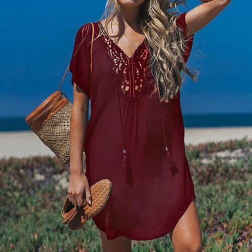 Summer Bikini Cover Up Sarong Dress Swimwear Kaftan Lace Crochet Beach Wear HOT!
