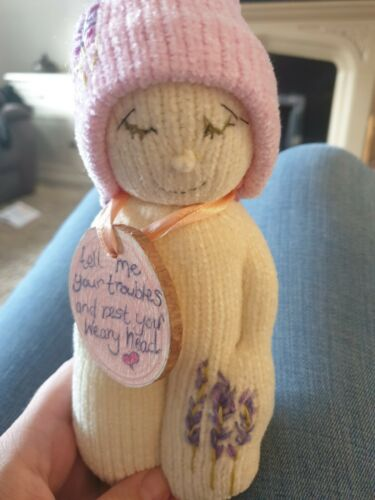 Sleepybod Anxiety Worry Doll OOAK for children and tired parents x gift